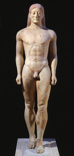 arkaisk tid og skulptur kendetegn